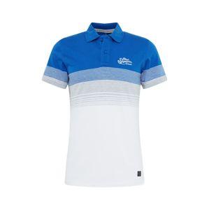 BLEND Tričko  modré / biela / sivá