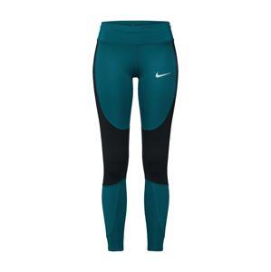 NIKE Športové nohavice  petrolejová / čierna