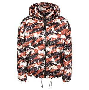 Tigha Zimná bunda 'Leander'  antracitová / neónovo červená / biela