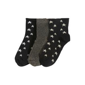 Pinned By K Ponožky  čierna / zlatá