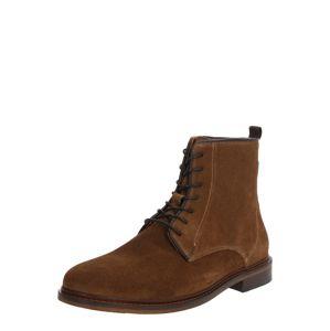 Shoe The Bear Šnurovacie čižmy 'NED S'  hnedé