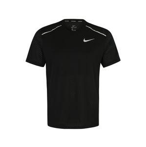 NIKE Funkčné tričko 'Rise'  biela / čierna