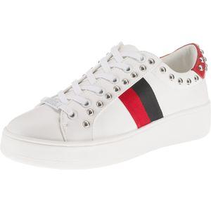STEVE MADDEN Nízke tenisky 'BELLE'  červené / čierna / biela