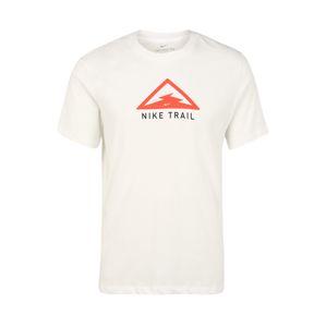 NIKE Funkčné tričko 'Trail'  krémová / svetločervená