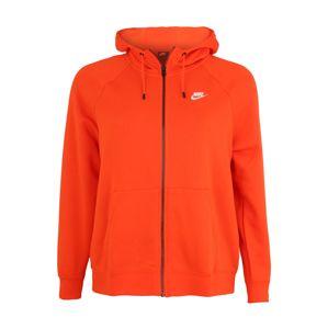 Nike Sportswear Tepláková bunda 'W NSW ESSNTL HOODY FZ FLC PLUS'  oranžová
