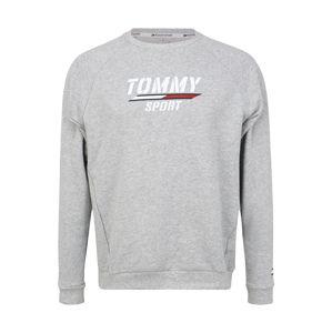 Tommy Sport Športová mikina  svetlosivá / biela