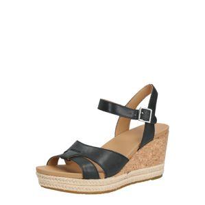 UGG Remienkové sandále 'W CLOVERDALE'  svetlohnedá / čierna