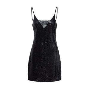 GLAMOROUS Kokteilové šaty  čierna