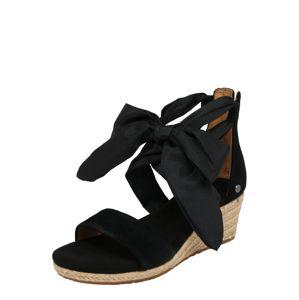 UGG Remienkové sandále 'Trina'  čierna
