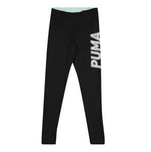 PUMA Športové nohavice 'Modern Sports'  čierna / biela / pastelovo zelená