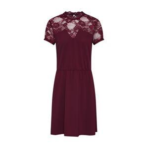 ONLY Kokteilové šaty 'MONA'  vínovo červená