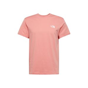 THE NORTH FACE Tričko 'Simple Dome'  ružová / biela