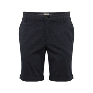 SELECTED HOMME Chino nohavice 'SLHSTRAIGHT-PARIS STRIPE SHORTS W'  tmavosivá