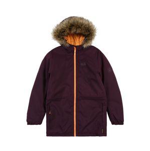 JACK WOLFSKIN Outdoorová bunda 'BANDAI'  tmavooranžová / farba lesného ovocia