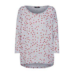 ONLY Tričko 'Elcos'  sivá / staroružová / červené
