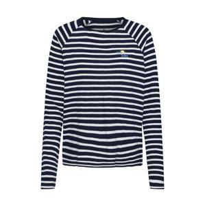 TOM TAILOR Tričko  námornícka modrá / biela