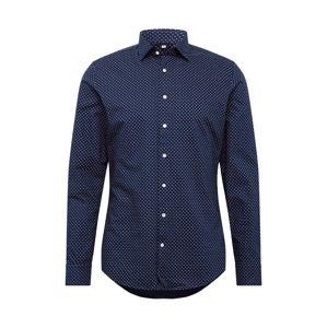 SEIDENSTICKER Biznis košeľa 'Light Kent'  biela / námornícka modrá