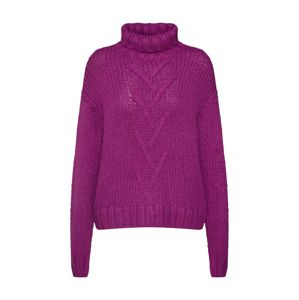 Noisy May Sveter 'NMKIRA L/S HIGH NECK KNIT'  fialová