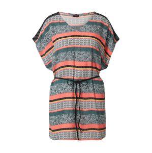 PROTEST Plážové šaty 'SLADE'  svetlooranžové / tmavozelená / zmiešané farby
