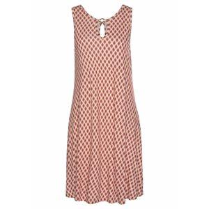 LASCANA Plážové šaty  pieskový / červené / karmínovo červená