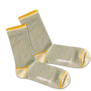 DillySocks Ponožky 'Sweet Playground'  žlté / zelená