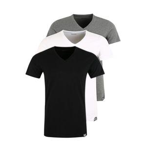 DIESEL Tielko 'UMTEE-MICHAEL3PACK'  čierna / biela / sivá