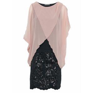 Heine Kokteilové šaty  rosé / čierna