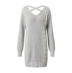 HOLLISTER Pletené šaty  sivá