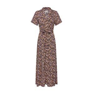 Iriedaily Letné šaty 'Bloomie Dress'  čierna / karamelová