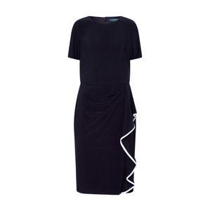 Lauren Ralph Lauren Šaty 'NASTASIA-SHORT SLEEVE-DAY DRESS'  čierna