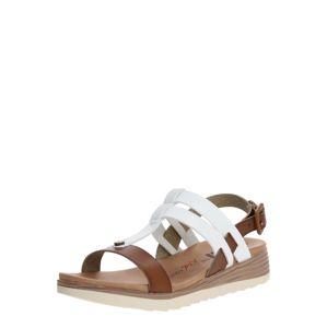 Xti Remienkové sandále  biela / hnedé
