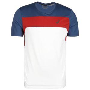 ASICS Funkčné tričko  biela / modrosivá / tmavo červené