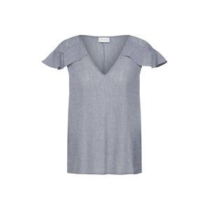 VILA Tričko 'Mulina'  námornícka modrá / biela