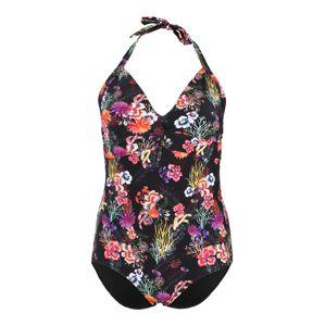 Junarose Jednodielne plavky  čierna / zmiešané farby