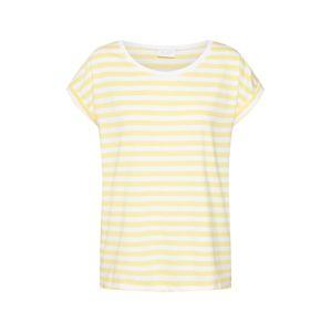 VILA Tričko 'Dreamers'  žlté / biela